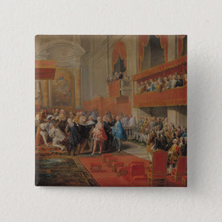 Presentation of Order of Holy Spirit to Prince 2 Inch Square Button