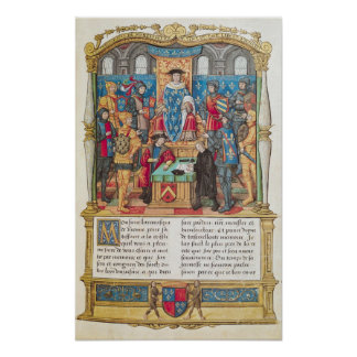Presentation of the Memoirs to Louis XI Poster