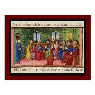 Presentation of Virgin Mary c1476 Postcard
