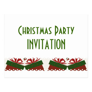 Presents Christmas Party Postcard