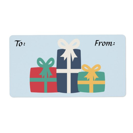 Presents Gift Label Shipping Label
