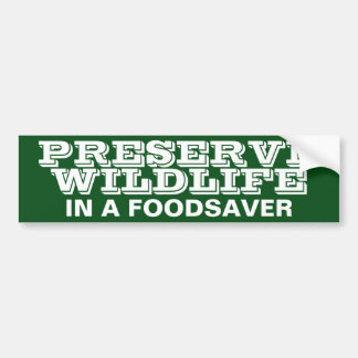 PRESERVE WILDLIFE BUMPER STICKER