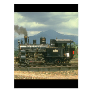 Preserved rack tank poses at_Steam Trains Postcard