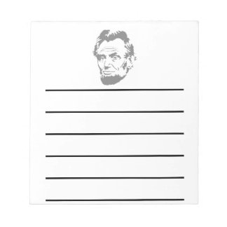 President Abe Lincoln Face Notepad