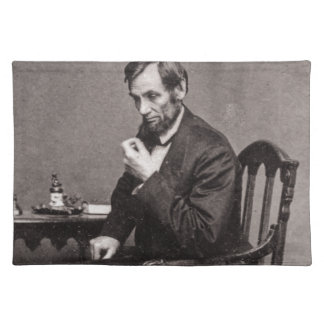 PRESIDENT ABRAHAM LINCOLN 1862 STEREOVIEW PLACEMAT