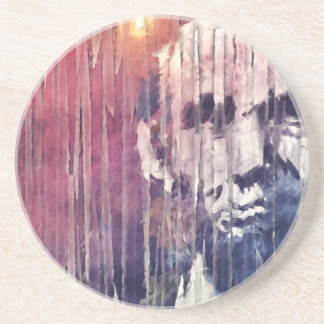 President Abraham Lincoln Abstract Beverage Coasters