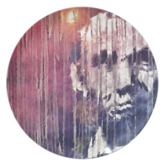 President Abraham Lincoln Abstract Plate