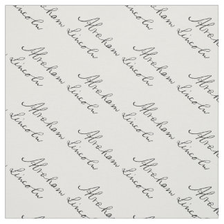 President Abraham Lincoln Handwriting Signature Fabric