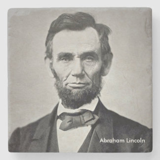 President Abraham Lincoln Marble Coaster