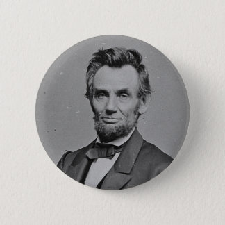 President Abraham Lincoln Portrait by Mathew Brady 2 Inch Round Button