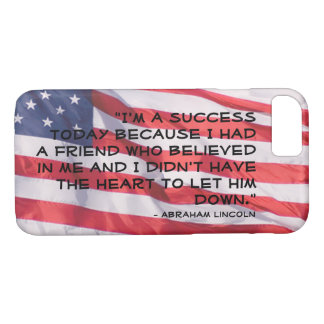 President Abraham Lincoln Quote On Success iPhone 8/7 Case