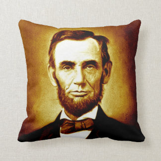 President Abraham Lincoln Vintage Portrait Sepia Throw Pillow