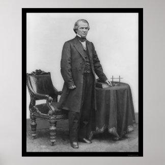 President Andrew Johnson 1867 Poster