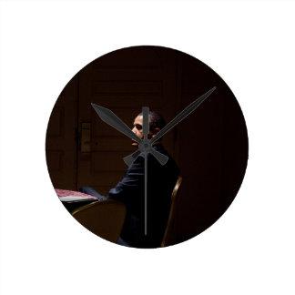 President Barack Obama 12 Round Clock