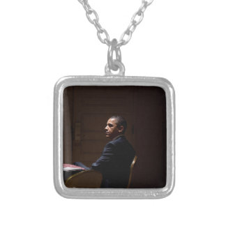 President Barack Obama 12 Silver Plated Necklace