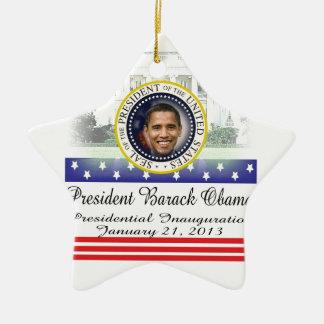 President Barack Obama 2013 Inauguration Ceramic Ornament