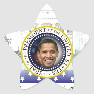 President Barack Obama 2013 Inauguration Star Sticker