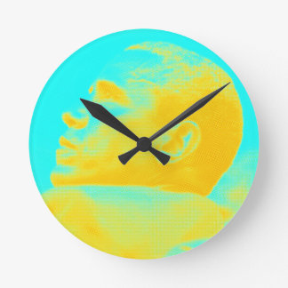 President Barack Obama 4 sketch Round Clock