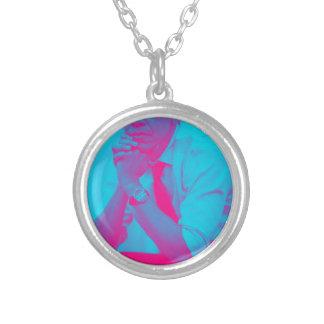 President Barack Obama 8a Silver Plated Necklace