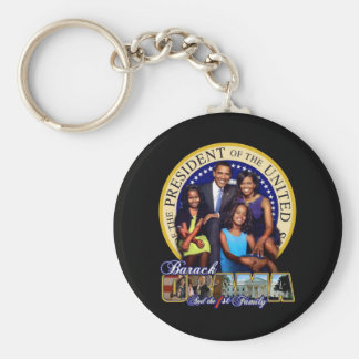 PRESIDENT BARACK OBAMA AND FAMILY KEYCHAIN