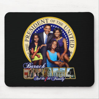 PRESIDENT BARACK OBAMA AND FAMILY MOUSE PAD