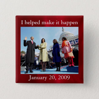 President Barack Obama and First Lady 2 Inch Square Button