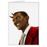President Barack Obama as the Devil Halloween Note Card