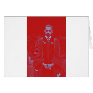President Barack Obama at Notre Dame University 2. Card