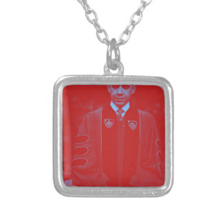 President Barack Obama at Notre Dame University 2. Silver Plated Necklace