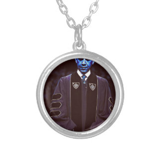 President Barack Obama at Notre Dame University 3. Silver Plated Necklace