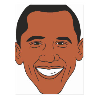 President Barack Obama Cartoon Face Postcard
