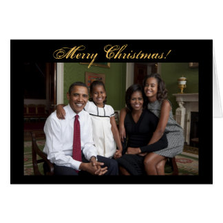 President Barack Obama Christmas Cards