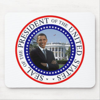 President Barack Obama Mousepad - Red White Blue