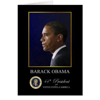 President Barack Obama - Paper Greeting Card