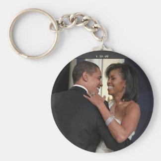 President Barack Obama & the 1st L... - Customized Keychain