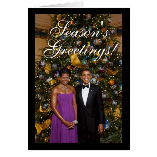 President Barack Obama w/ Michelle Christmas Cards