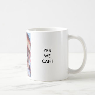 PRESIDENT BARACK OBAMA, YESWE CAN! COFFEE MUG