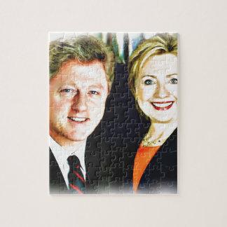 President Bill Clinton & President Hillary Clinton Jigsaw Puzzle