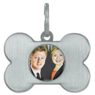 President Bill Clinton & President Hillary Clinton Pet Name Tag