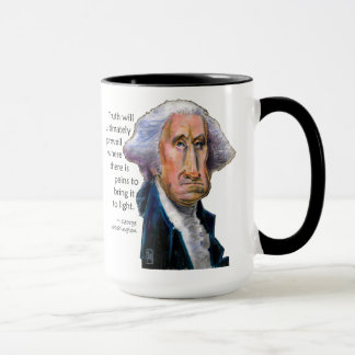President Caricature Mug: George Washington Quote Mug