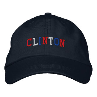 President Clinton 2016 Red White Blue Patriotic Embroidered Baseball Cap