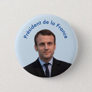 Président de la France Emmanuel Macron 2 Inch Round Button