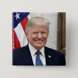 President Donald Trump 2 Inch Square Button