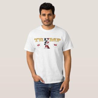 President Donald Trump 45th POTUS Flag Colors T-Shirt