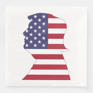 PRESIDENT DONALD TRUMP AMERICAN FLAG DISPOSABLE NAPKINS