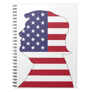 PRESIDENT DONALD TRUMP AMERICAN FLAG NOTEBOOK