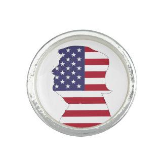 PRESIDENT DONALD TRUMP AMERICAN FLAG PHOTO RING
