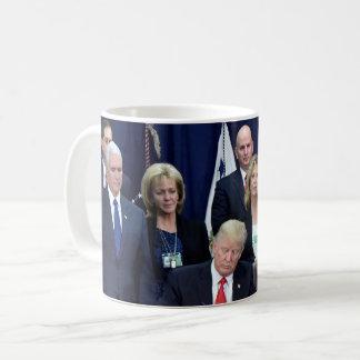 President Donald Trump At Work Coffee Mug