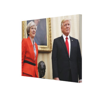 President Donald Trump & British PM Theresa May Canvas Print