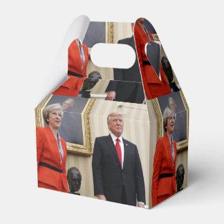 President Donald Trump & British PM Theresa May Favor Box